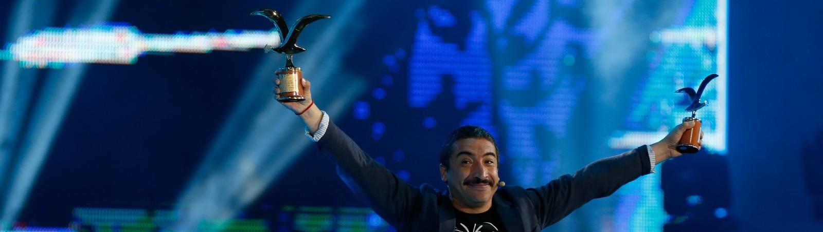 24 de FEBRERO del 2016/Viña del Mar Rodrigo Gonzalez ,durante la segunda noche de la 57º del Festival Internacional de la Canción de Viña del Mar, realizado en la Quinta Vergara.  FOTO:FRANCISCO LONGA/AGENCIAUNO