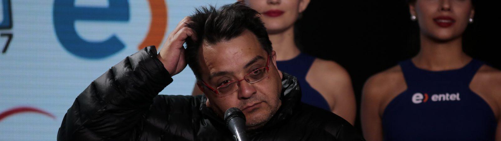 28 FEBRERO de 2016/VIÑA DEL MAR Productor Alex Hernandez, durante la ultima conferencia de prensa luego de finalizado el Festival de Viña del Mar 2016. FOTO:PABLO ROJAS MADARIAGA/AGENCIAUNO