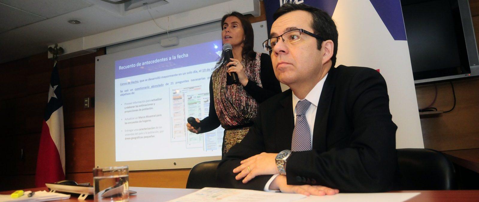 Ministro de Economia Luis Felipe Cespedes entrega resultados preliminares del Censo