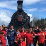"""Familias de Valdivia disfrutaron de recorrido en Tren """"El Valdiviano"""", por décimo aniversario de Los Ríos"""
