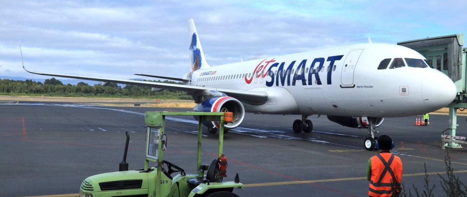 Los Ríos crece en conectividad con nuevos vuelos de JetSMART entre Santiago y Valdivia