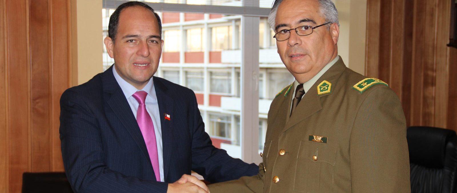 General Olate e Intendente Asenjo aseguraron trabajo conjunto en beneficio de la seguridad ciudadana en toda la región