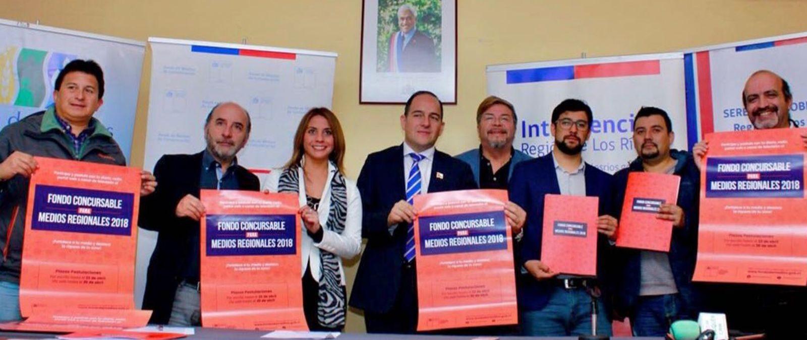 Gobierno lanzó Fondo de Medios 2018 en la región de Los Ríos