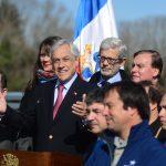 Presidente Piñera encabeza puesta en marcha de Puente Cau Cau en Valdivia