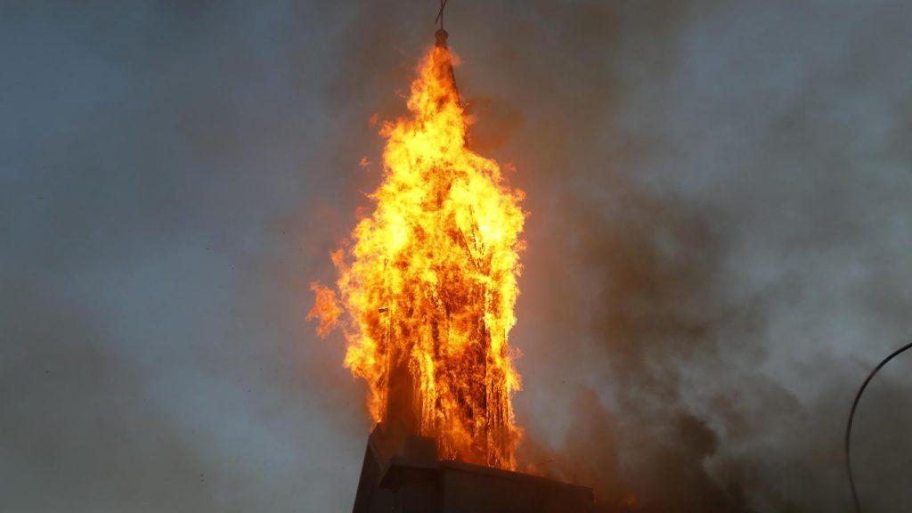 Incendio en la parroquia de Asunción
